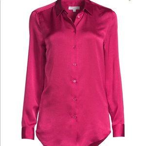 Equipment pink silk blouse
